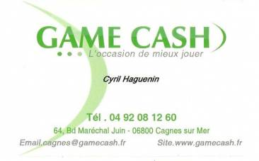 Carte visite game cash