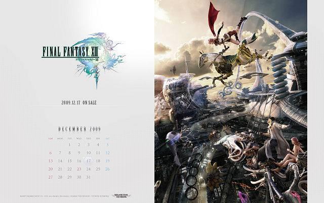 Final Fantasy XIII 13 calendrier Square Enix 1