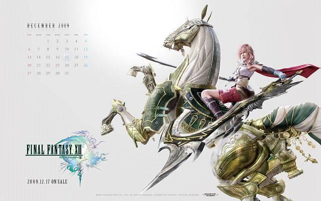 Final Fantasy XIII 13 calendrier Square Enix 2