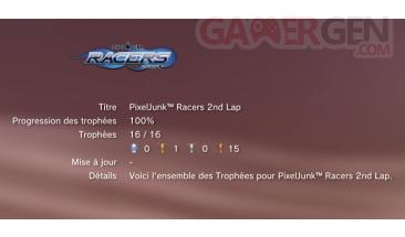 trophees pixeljunk racers 2nd lap PS3 liste 1
