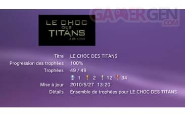 Le choc des titans trophees liste 1