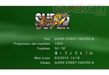 Super Street Fighter IV trophee liste 1