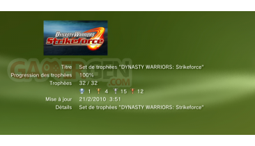 dynasty Warriors Strikeforce Trophees 1