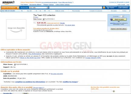 Team ICO Collection Sony Amazon Rumeur