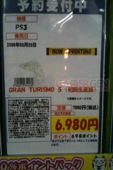 Gran Turismo 5 date de sortie nippone insolite