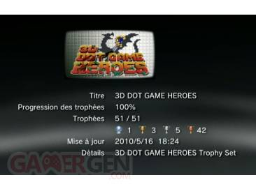 3D DOT GAME HEREOES trophee liste 1
