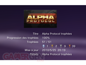 Alpha Protocol Trophees LISTE 1