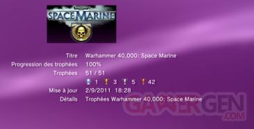 Warhammer 40 000 Space Marine Trophées LISTE    1