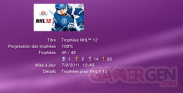 NHL 12 Trophées LISTE  1