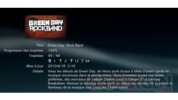 GREEN DAY Rock Band trophees BRONZE     36
