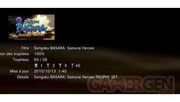 sengoku basara samurai heroes trophees liste 1
