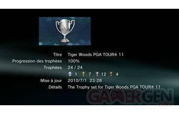 TIGER WOODS PGA TOUR 11 TROPHEES liste   1