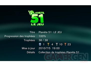 Planet 51 trophees liste