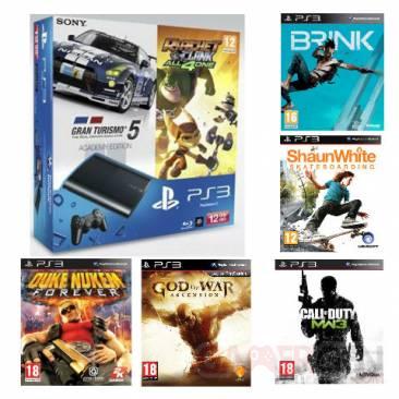 Bundle PS3 ULtra Slim 12 Go avec 5 jeux auchan 11.07.2013 (1)