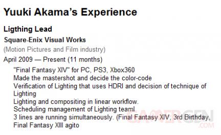 Final Fantasy XIV Online CV