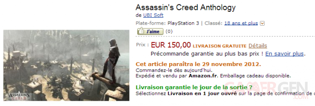 assassin creed anthology amazon france