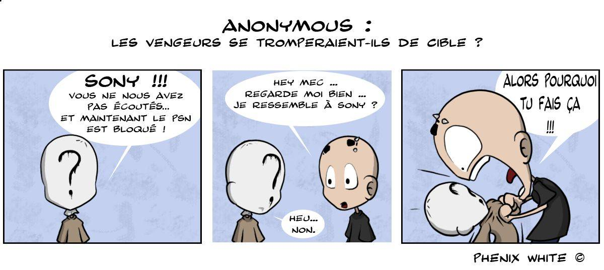 Actualite-en-dessin-PhenixWhite-Anonymous-PSN-Bloque-10042011