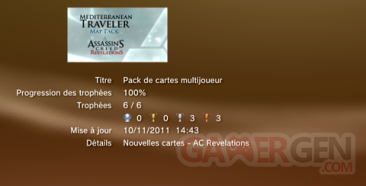 Assassin's creed revelations - Pack Cartes Multijoueur - Trophées - LISTE 1