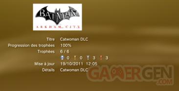 Batman Arkham City CATWOMAN DLC trophées LISTE 1