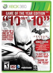 Batman Arkham City GOTY jaquette US