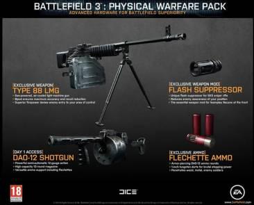 battlefield 3 physical warfare pack