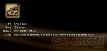 Battlefield 3 - Trophées - BRONZE 9