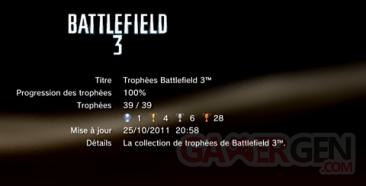 Battlefield 3 - Trophées - LISTE 1