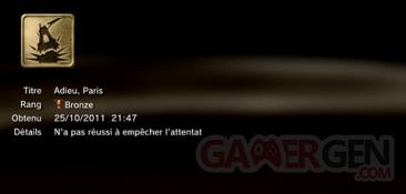 Battlefield 3 - Trophées - MASQUES 1