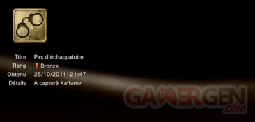 Battlefield 3 - Trophées - MASQUES 4