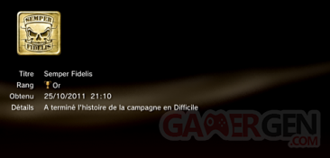 Battlefield 3 - Trophées - OR 1