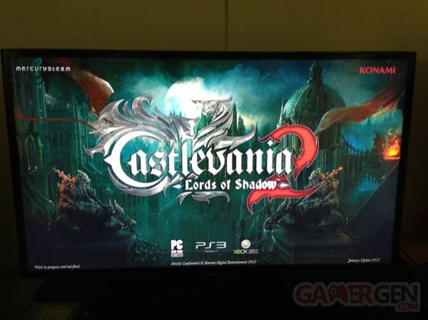 castlevania lords of shadow 2 first screen