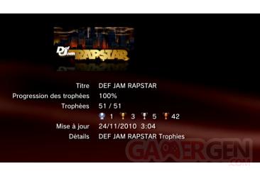 Def Jam Rapstar Trophees LISTE        1