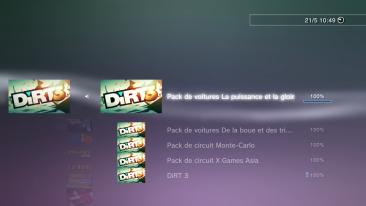 Dirt 3 Trophées DLC puissance gloire FULL