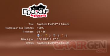 Eyepet & friends - Trophées -LISTE - 1