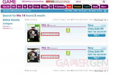FIFA 14 date de sortie GAME