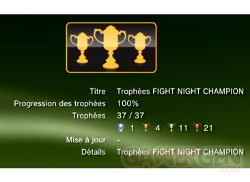 Fight Night Champion - Trophées - LISTE - 1