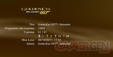 GoldenEye 007 Reloaded - Trophées - LISTE
