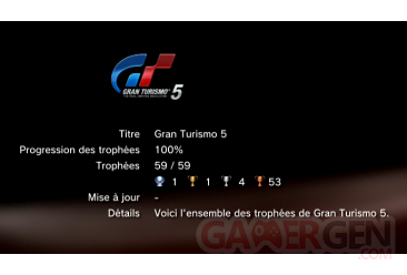 Gran Turismo 5 trophees LISTE     1