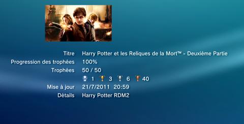 Harry Potter -Les reliques de la mort - trophees LISTE   1