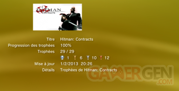 HITMAN CONTRACTS - TROPHEES - LISTE - 0001
