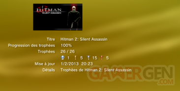 HITMAN SILENT ASSASSIN - TROPHEES - LISTE - 0001