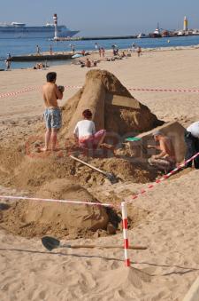 IDEF 2011 Uncharted 3 sculpture en sable 0001