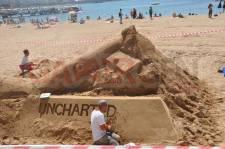IDEF 2011 Uncharted 3 sculpture en sable 0003