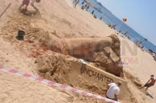 IDEF 2011 Uncharted 3 sculpture en sable 0005