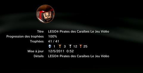 LEGO PIRATES DES CARAIBES trophees LISTE