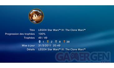 Lego Star Wars III - Trophees - LISTE - 1