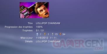 Lollipop Chainsaw Trophées LISTE