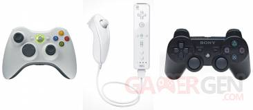 manettes ps3 xbox wii