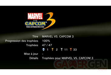 Marvel vs Capcom 3 trophées LISTE  1