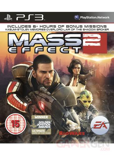 Mass Effect 2 PS3 Packshot Cover Pochette 09112010